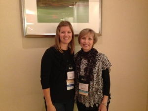 Another highlight of my conference--spending time with my agent, Mary Keeley
